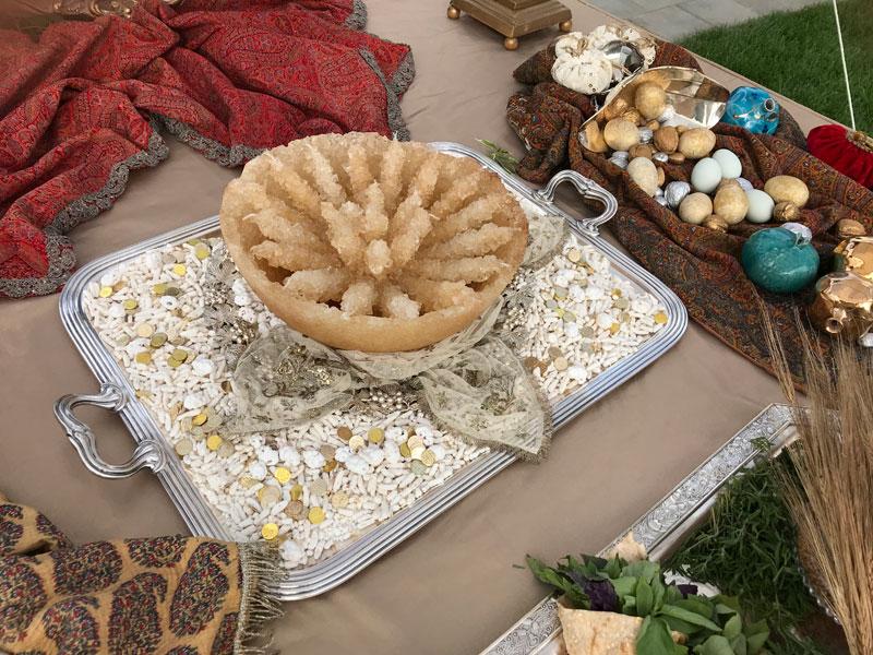 bowl of crystal sugar, known as kaseh nabat