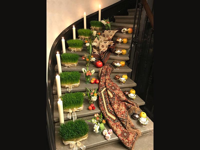 """sofreh, entitled """"Seven Steps"""", installed on seven levels"""