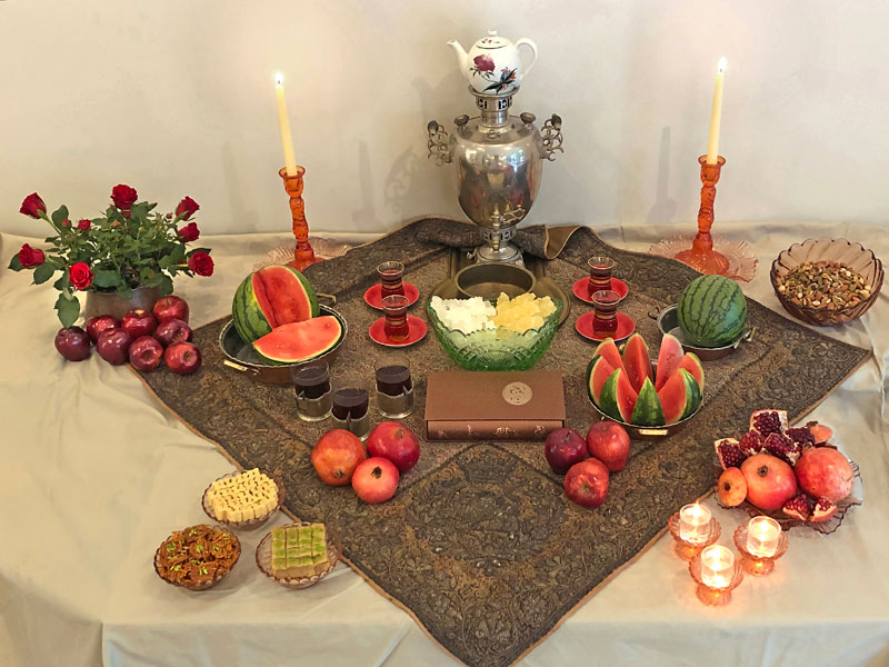 Yalda contemporary sofreh
