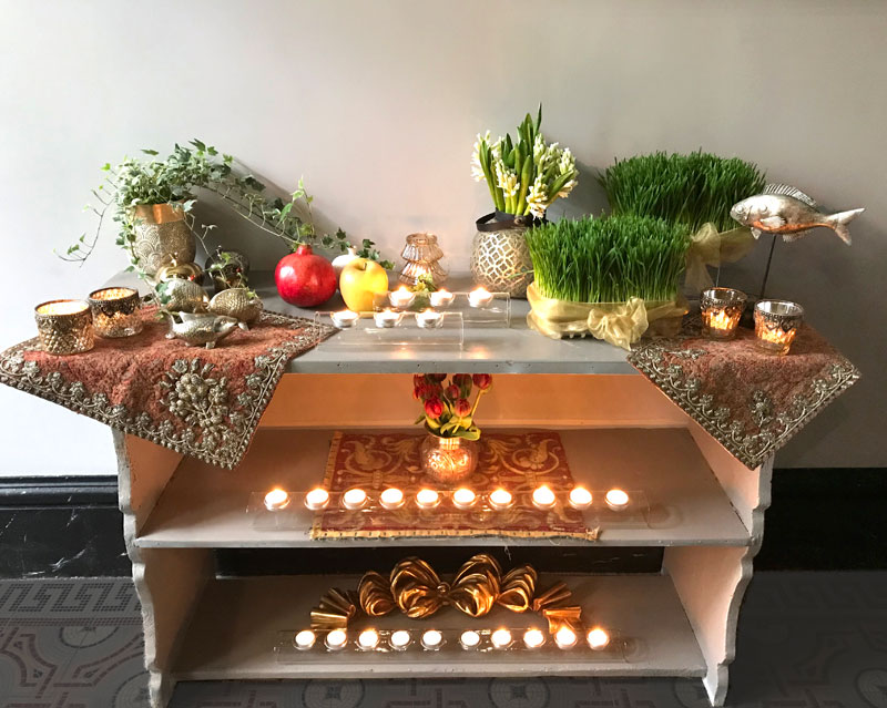 Three-level Sofreh for Nowruz