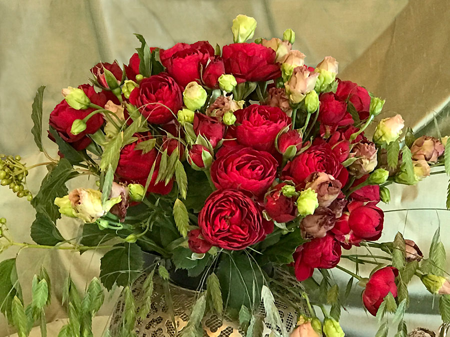 red bouquet
