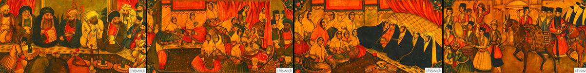 Chiswick Auctions Papier Mache panels