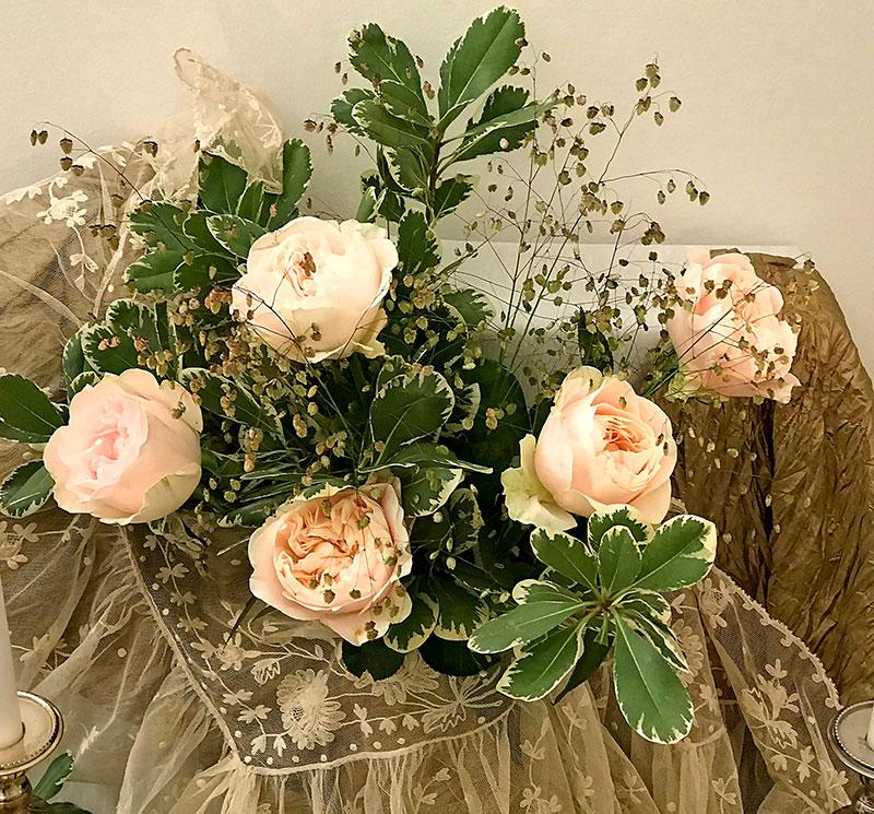 Chiffon roses in a pastel shade