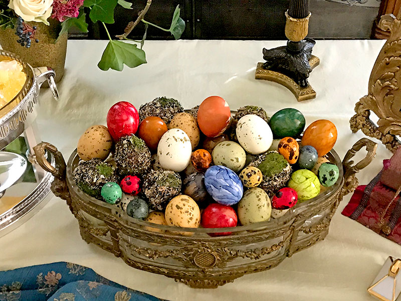 decorated eggs - symbol of fertility